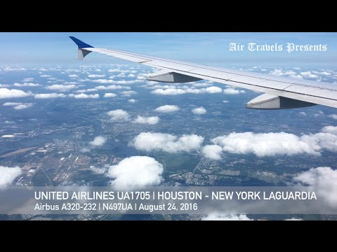 United Airlines | UA1705 | Houston - New York LaGuardia | Statue of Liberty | Manhattan Skyline