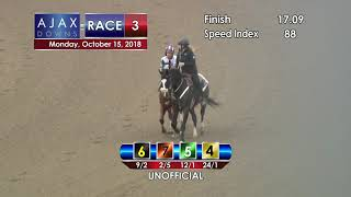 Ajax Downs Oct 15 2018   Race 3