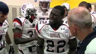 2009 team usa football pregame speech with david wilson