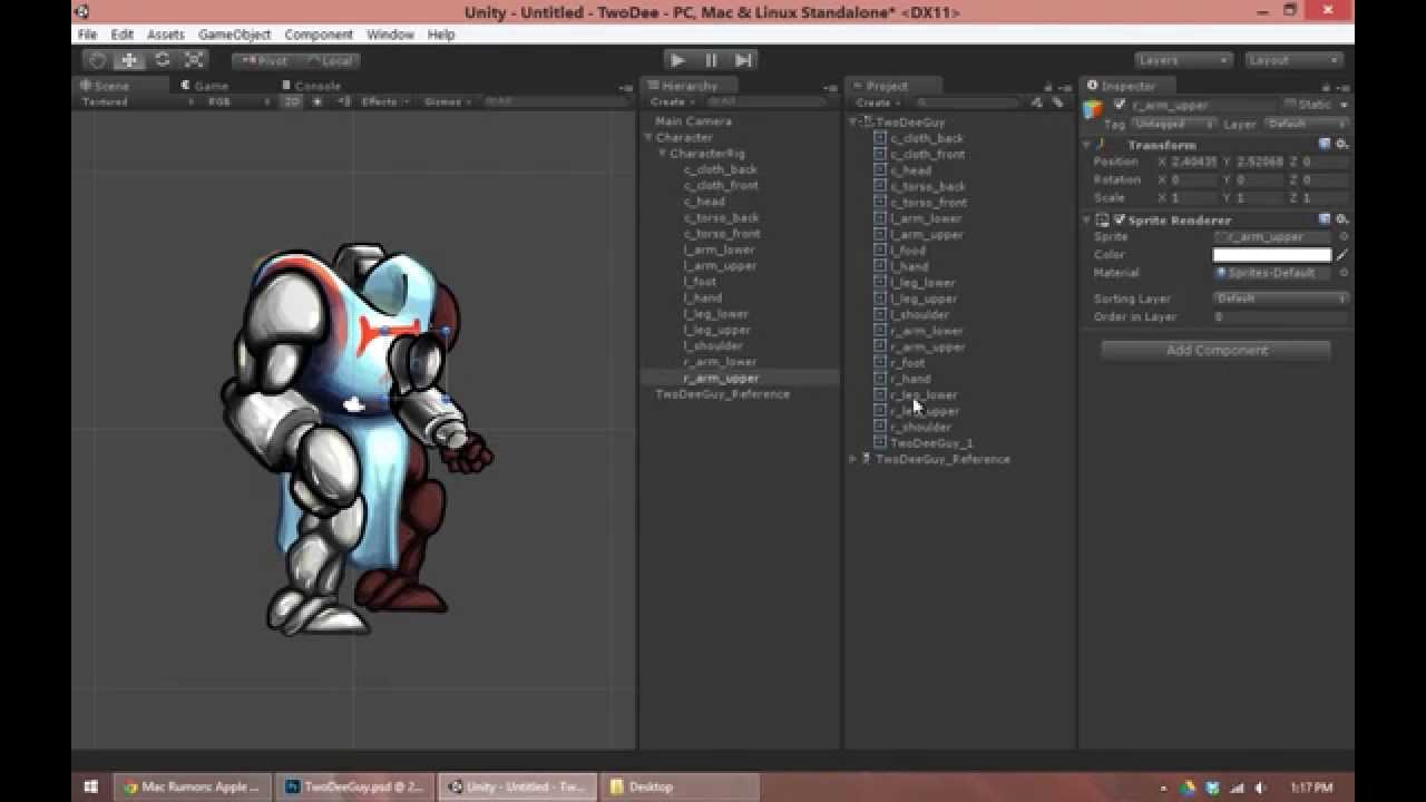 Character Design Unity : Building a d character rig with unity part you