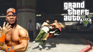 Grand Theft Auto V: Hardest Knockouts (K.Os) #6 (John Cena, Hardest RKOs, Randy Orton, WWE Skills)