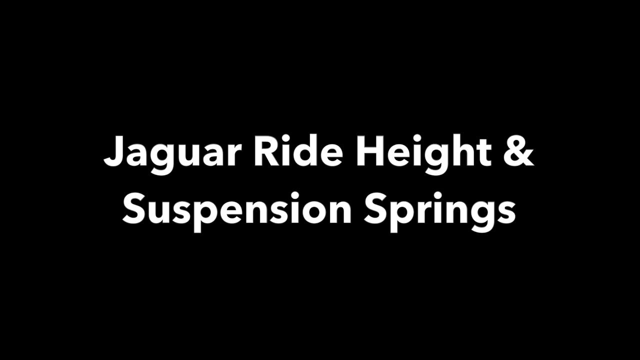 jaguar ride height suspension [ 1280 x 720 Pixel ]