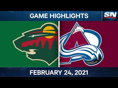 NHL Game Highlights | Wild vs. Avalanche – Feb. 24, 2021