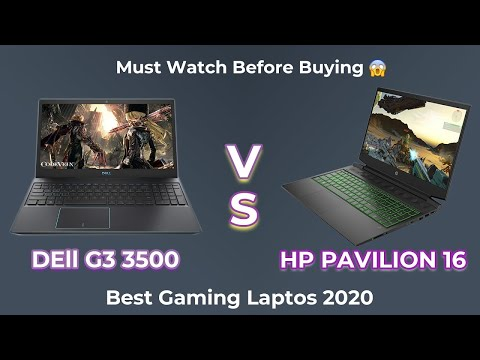 Best Gaming Laptops 2020 | hp Pavilion 16 | Dell G3 3500 💻💻