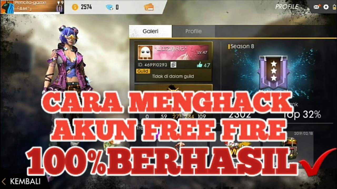 708K Views - Cara Hack Akun Free Fire Orang Sultan 100 ...