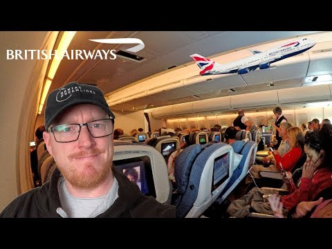 Flying The BRITISH AIRWAYS BOEING 747: New York To London In Economy Class