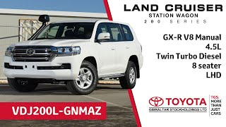 Toyota Land Cruiser 200 Series GX-R V8 (manual) - 4.5L Twin Turbo - 8 seater - LHD