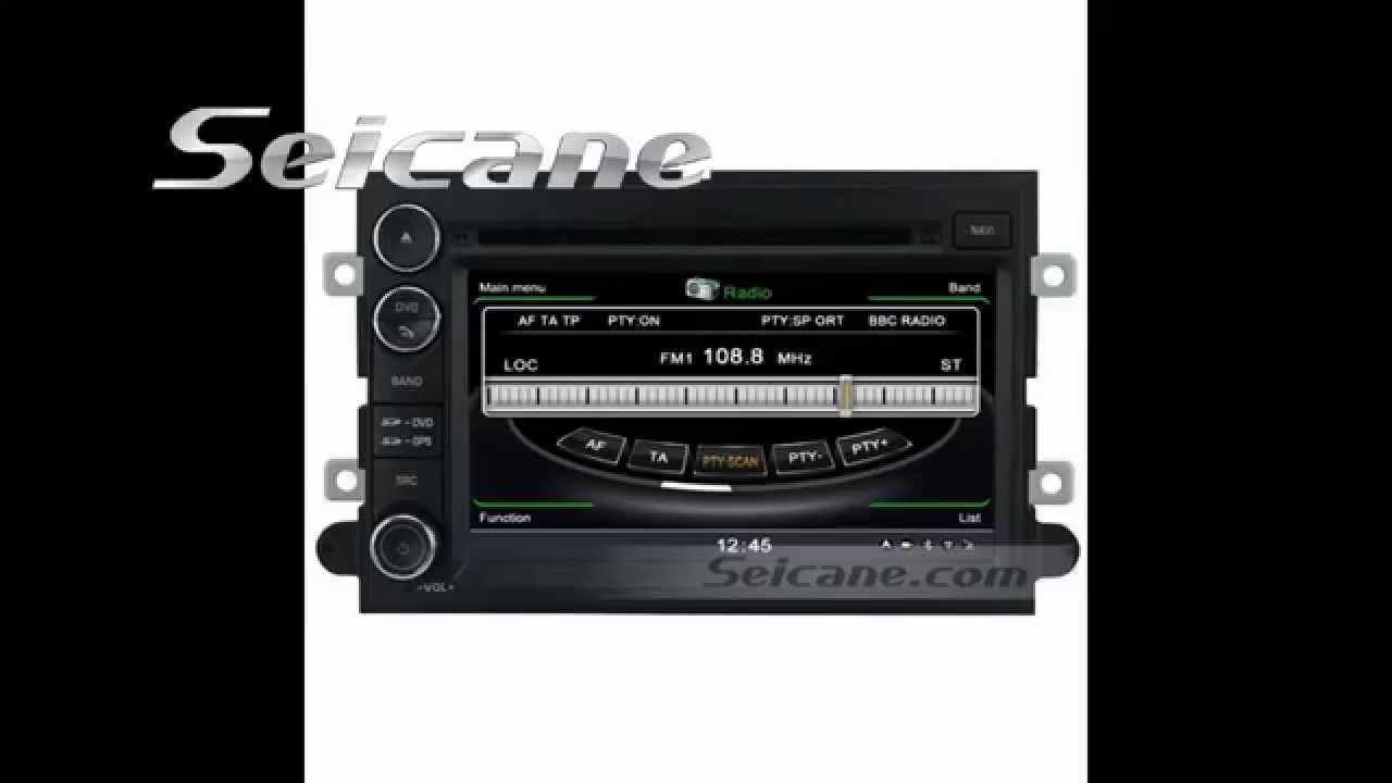 2006 2007 2008 2009 2010 2017 Ford Explorer Edge Aftermarket Radio Navigation Dvd Bluetooth Stereo W You