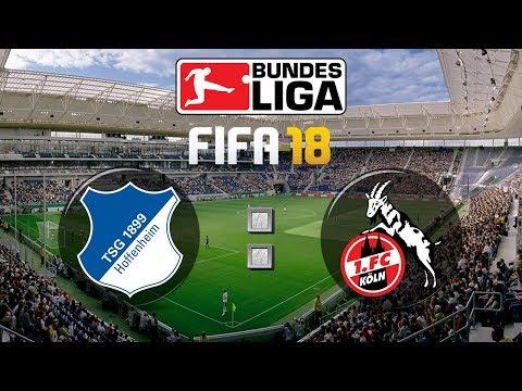 FIFA 18 Bundesliga TSG 1899 Hoffenheim : 1. FC Köln | Gameplay Deutsch Livestream