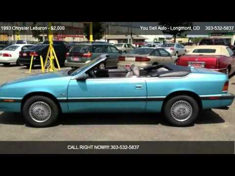 1993 Chrysler Lebaron Gtc For In Longmont Co 80501