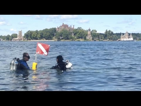 Fish identification dive in St. Lawrence River