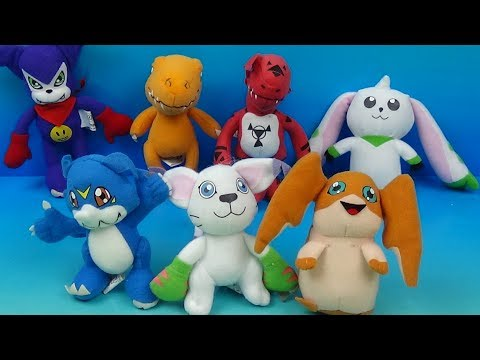 2002 Digimon Digital Monsters set of 7 Dairy Queen Kids meal toys video review