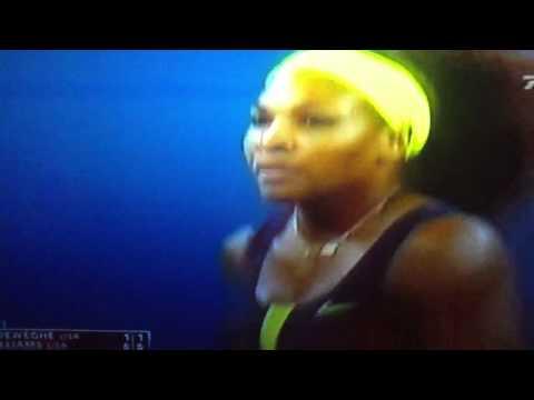 Serena Williams vs Coco Vandeweghe Us open 2012 Match Point HD 1080p first round