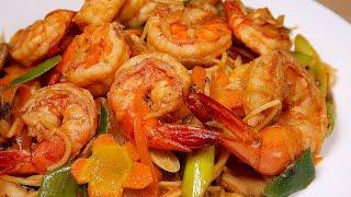 Vlog 06 | Mì Xào Tôm Sốt Thái Chua Cay (Shrimp Noodle Stir Fry With Spicy And Sour Sauce)