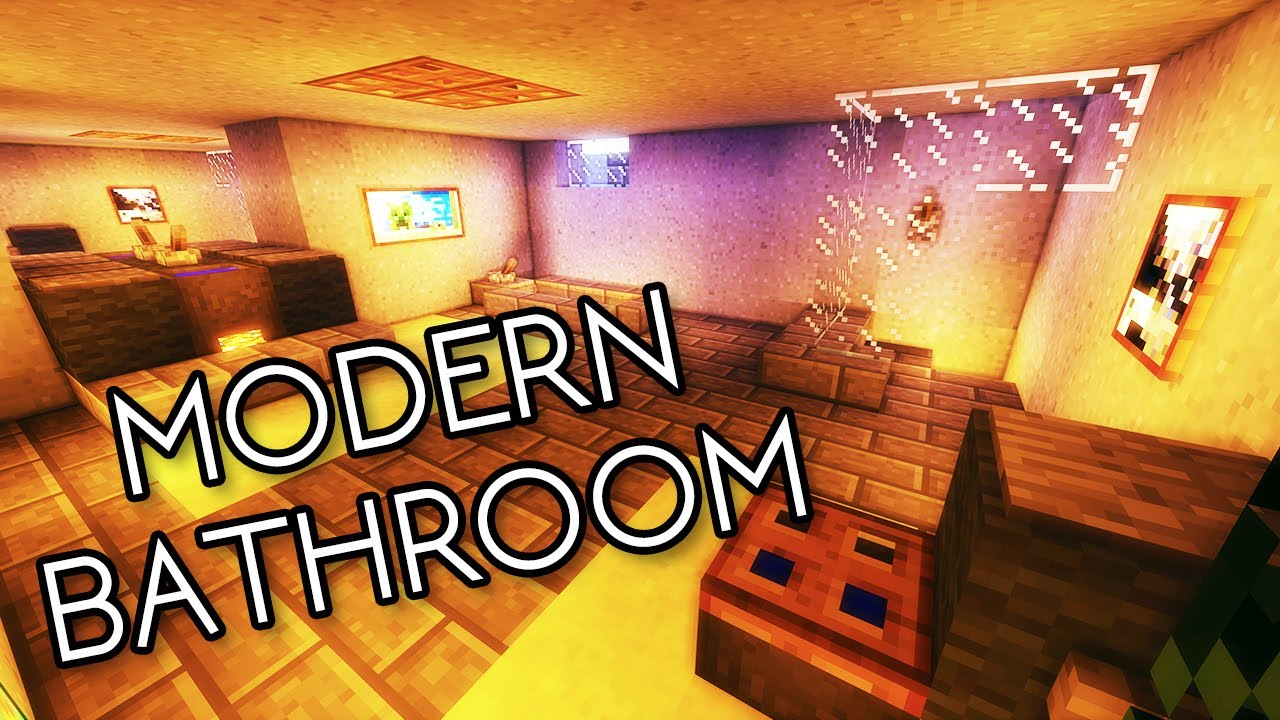 Minecraft bathroom tutorial