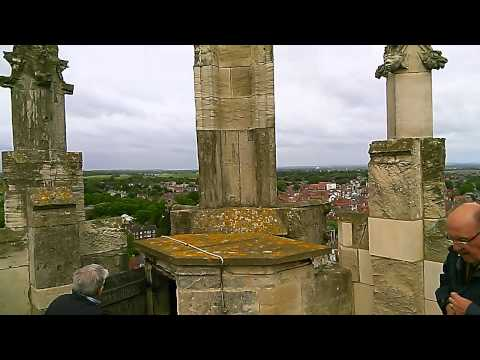 Beverley Minster view from the West Tower Pan 25th May 2015