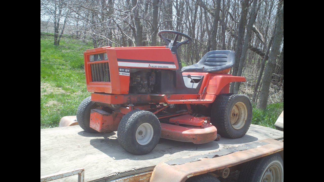 Allis Chalmers 811 Gt Yard King Snapper Youtube