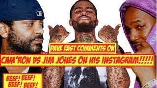 BEEF: Dave East Responds to Jim Jones and Cam'ron Beefing Over Him On IG | JordanTowerNews