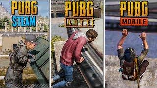 PUBG MOBILE vs PUBG LITE vs PUBG steam #4 СРАВНЕНИЕ НОВОГО ПАРКУРА