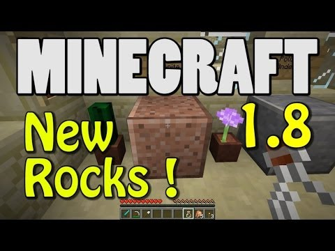 Minecraft 1.8 - New Igneous Rocks! (GRANITE! DIORITE! ANDESITE!)