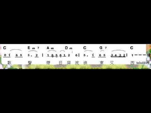 簡譜---霧夜的燈塔(臺語歌曲)---大家來合奏   Doovi