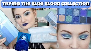 💙Trying Jeffree Star's New Blue Blood Collection 💙