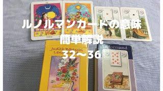 【ルノルマンカード】カードの意味簡単解説 33-36