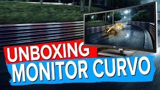 unboxing monitor curvo da aoc c3583fq ultra wide