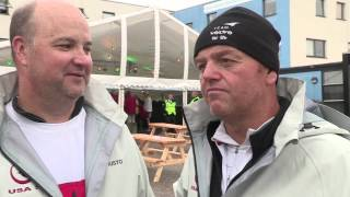 Mike Hennessy and Andy Beadsworth onboard the class 40  Dragon in the 2015 Rolex Fastnet Race