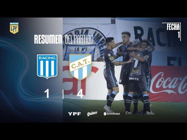 Copa Liga Profesional   Fecha 1   resumen de Racing - Atlético Tucumán