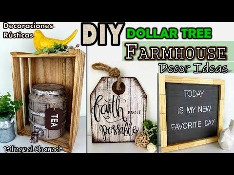 Dollar Tree DIY | Farmhouse Decor Ideas 2019 | Decoraciones Rústicas