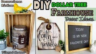 Dollar Tree DIY   Farmhouse Decor Ideas 2019   Decoraciones Rústicas