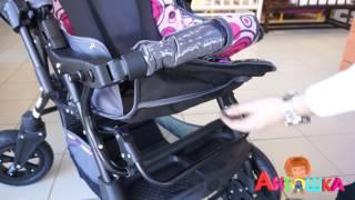 Коляска трансформер с поворотными колесами Alis Capri Lux