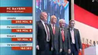 FC Bayern Jahreshauptversammlung 2010 Kritik an Uli Hoeness.WMV