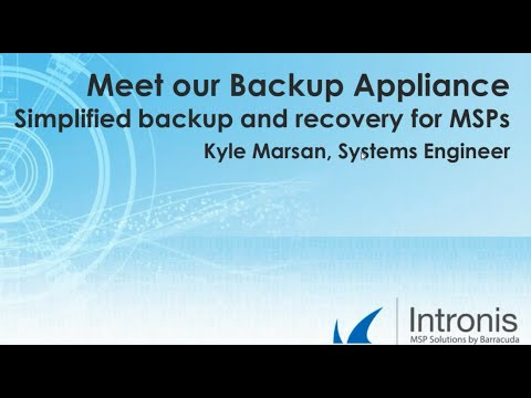 Meet our Backup Appliance    Simplified backup and recovery for MSPs