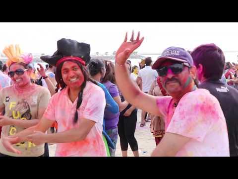 Dubai Holi Celebration 2019 #HoliMasti2019 #dubai #almamzarbeach
