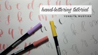 Easy Hand Lettering Tutorial // Tutorial Hand Lettering dengan Brush Pen dan Pensil!