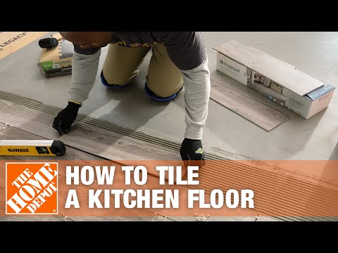 How to Tile a Kitchen Floor Part 2 - The Home Depot - YouTube
