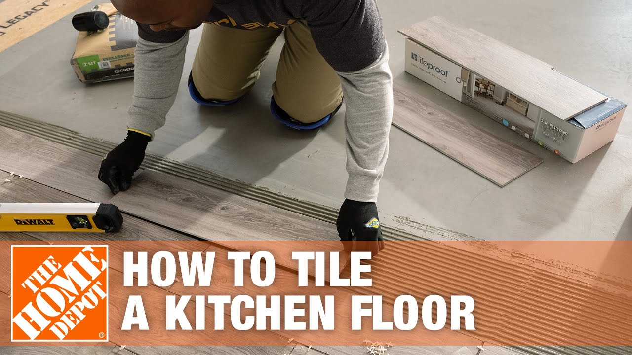 how to tile a kitchen floor part 2 the home depot