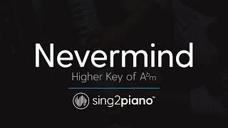 Nevermind (Higher Key of Abm - Piano Karaoke) Dennis Lloyd Video