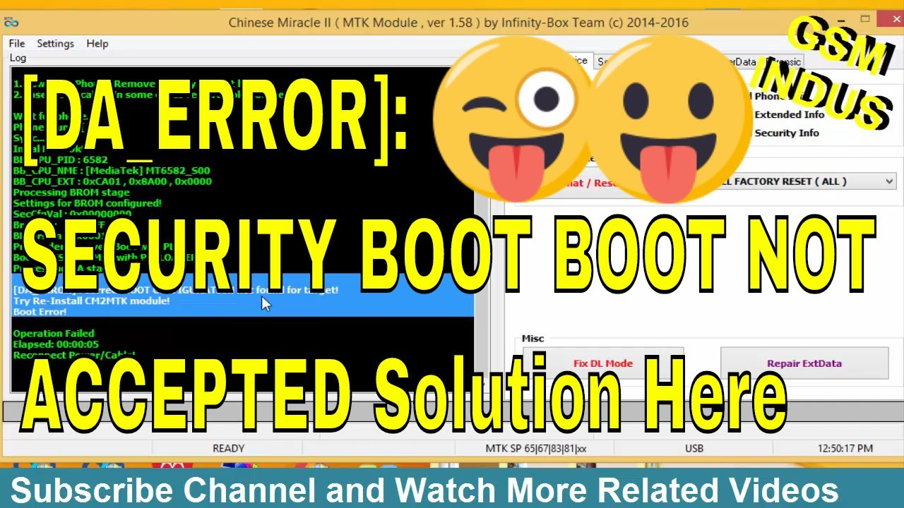 Cm2 MTK Android Securityboot_boot_not_accepted Boot Error