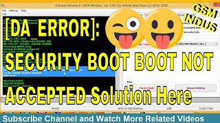 cm2 secure boot error problem fix