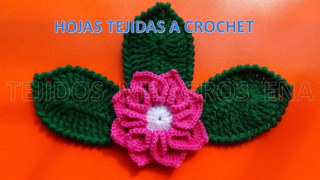 Hojas Tejidas A Crochet Faciles De Tejer Youtube