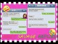 most savage replies😱😡ever🙉🙀 by mean girlfriends💓😹😍😘