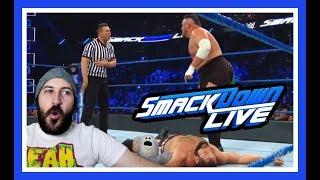 Reaction   Miz Is Guest Ref For Samoa Joe vs Rusev!!!   WWE Smackdown Live June 12, 2018