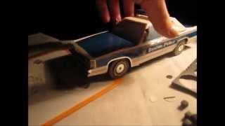 Полицейская машина из бумаги | Police car of paper