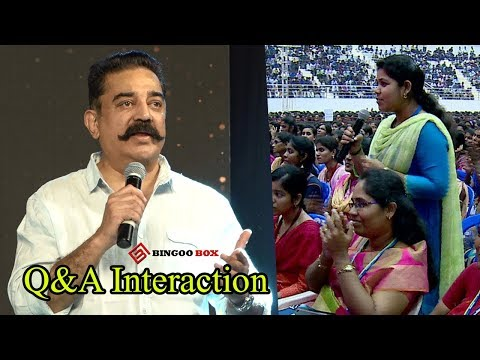 MeToo பற்றி Kamalயிடம் மாணவிகள் சரமாரி கேள்விகள்... KamalHaasan Q&A interaction with Student's
