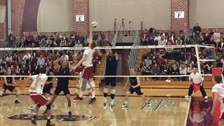 NOBODY UP - James Shaw gets his hitters with NO BLOCKERS (Volleyball Highlights)