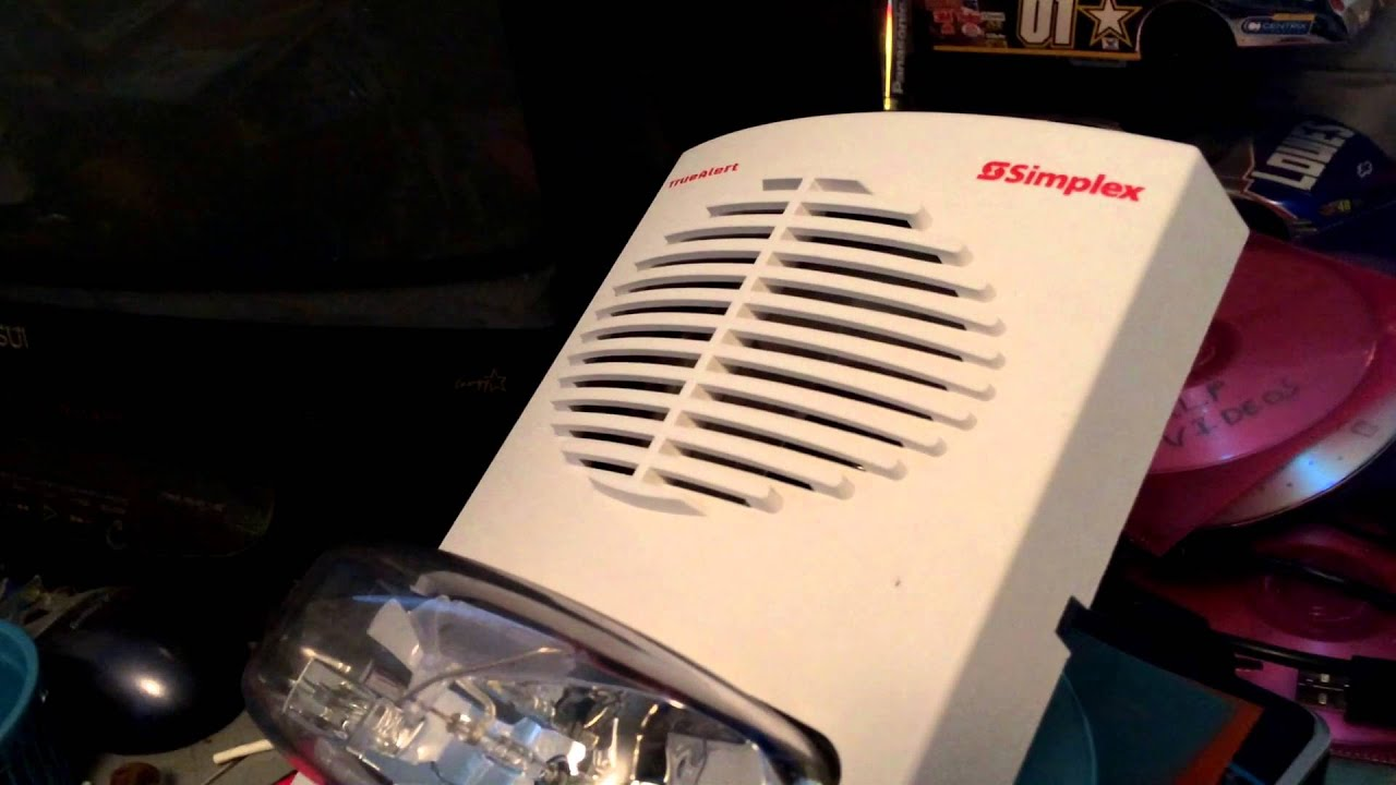 Simplex 4906-9153 Speaker Strobe Test (Few Tones) - YouTube