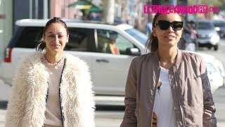 Cara Santana & Ashley Madekwe Leave The Gym Together After An Early Morning Workout 1.16.17